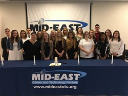 Fourteen New NHS Members Inducted at Mid-East Buffalo Campus