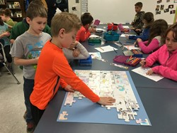 Community Career Puzzles at Roseville Elementary