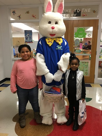 Bard the Bunny with Students