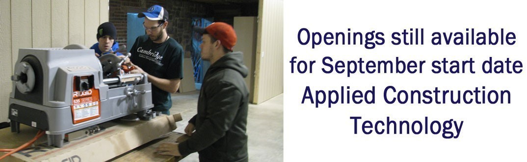 Taking apps for Applied Construction Technology fall class.